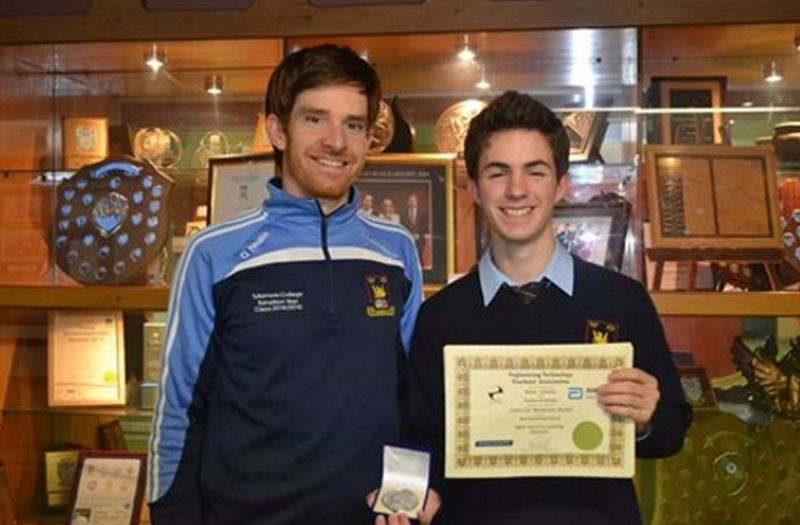 Pictured above: Dylan  with his proud teacher, Mr JP Meehan.